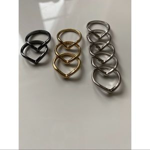 Fashion Stackable Midi Rings